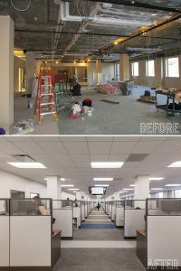 Seibels Before and After Images of Interior Office Spaces