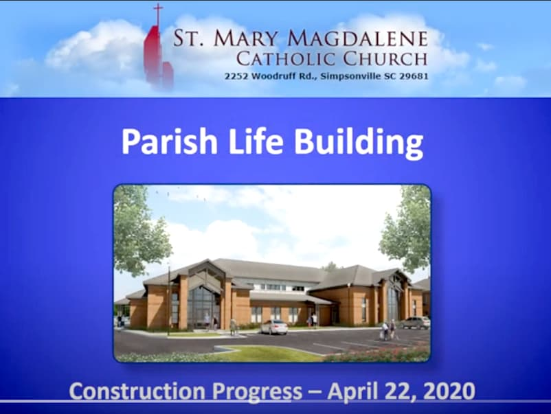 St. Mary Magdalene Progress Video