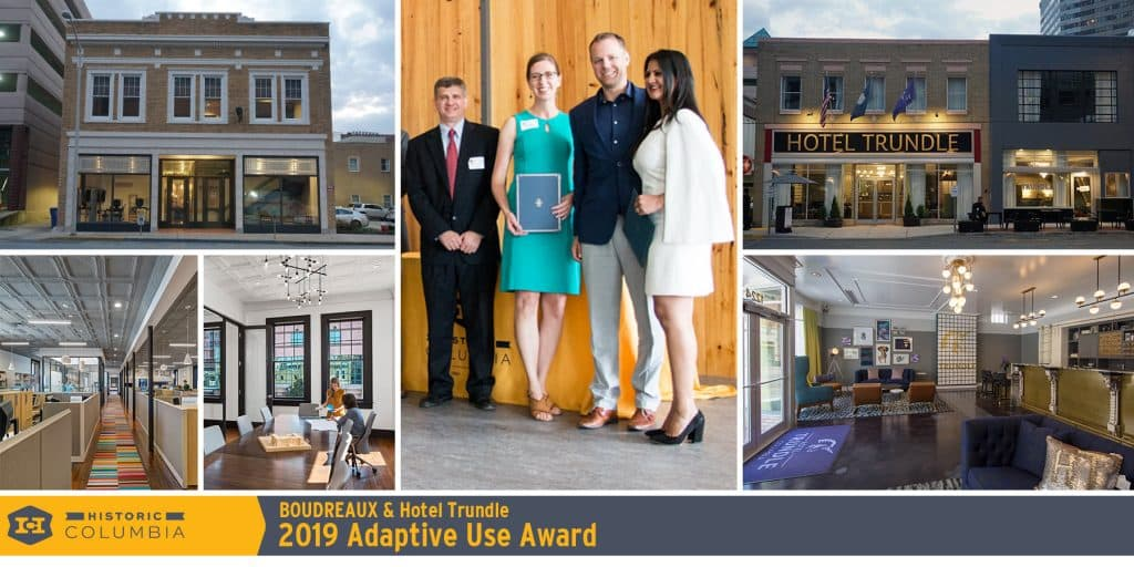 BOUDREAUX & Hotel Trundle Win Historic Columbia Preservation Award