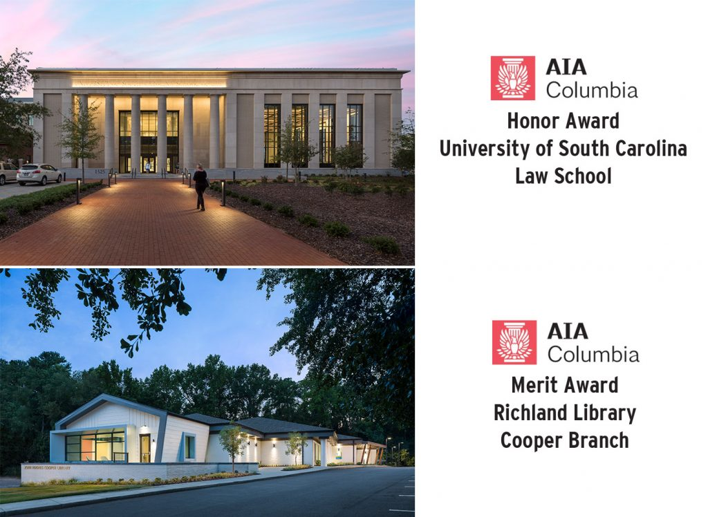 Design Award Alert! UofSC Law School & Richland Library Cooper
