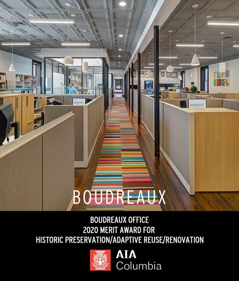 BOUDREAUX Office Wins AIA Columbia Design Award