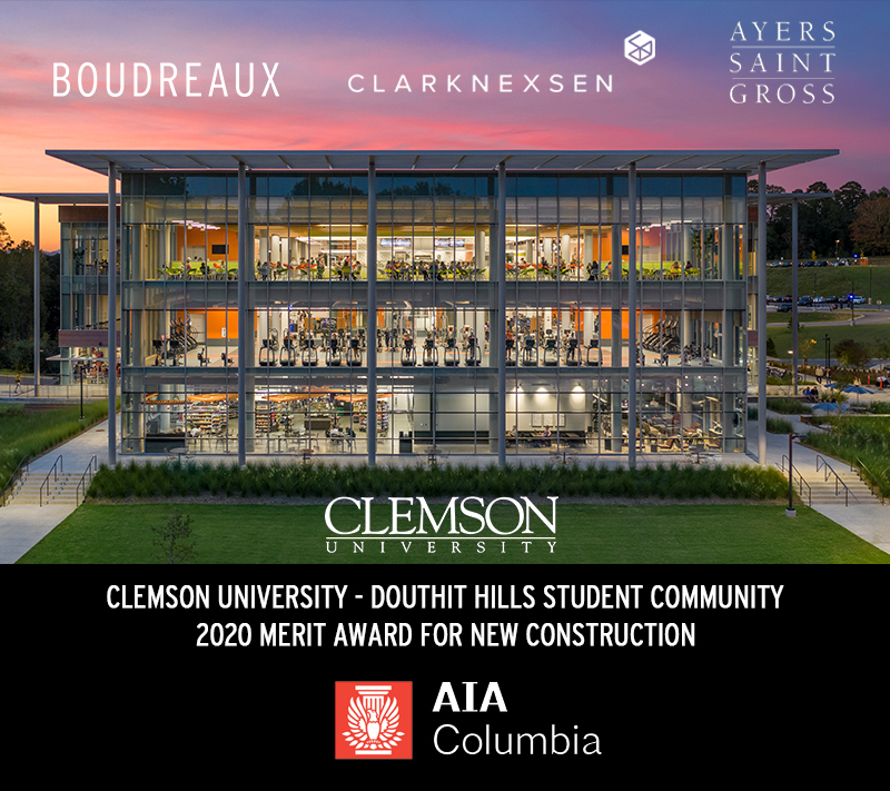 Clemson University's Douthit Hills Student Community Wins AIA Columbia Design Award