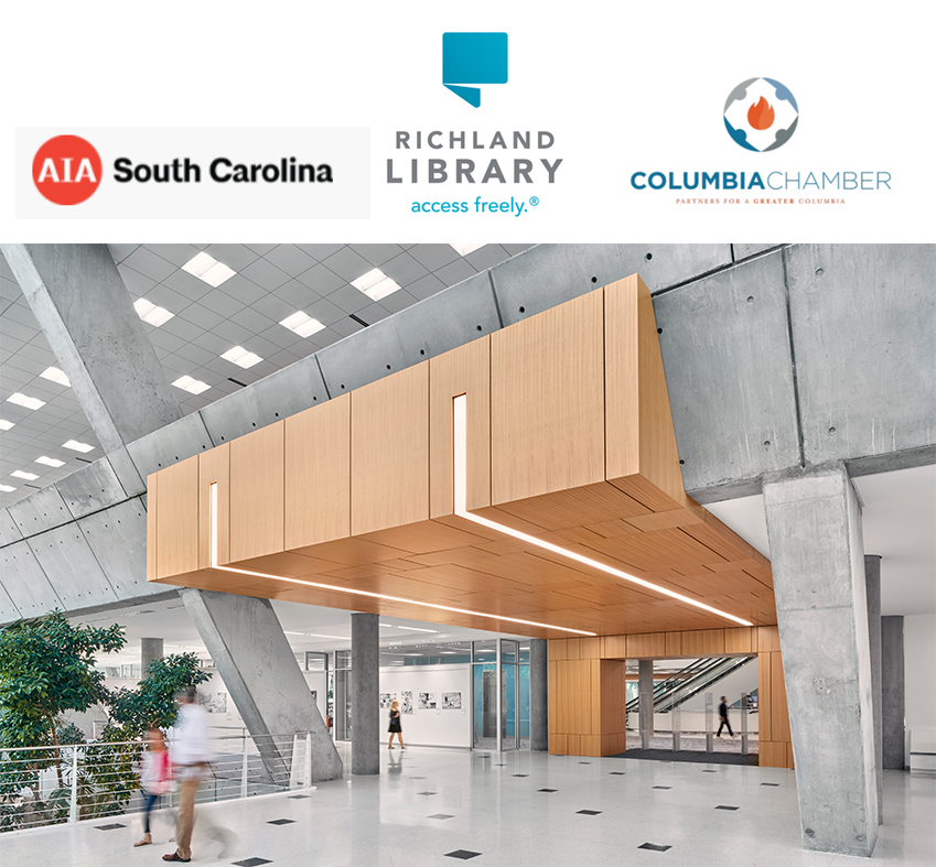 Richland Library Wins AIA South Carolina's Design Honor Award for Interior Architecture & the Columbia Chamber's Golden Nail