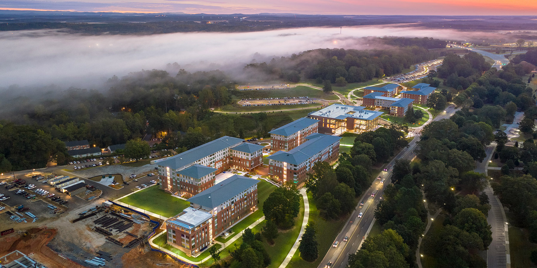 Boudreaux architects worked with Clemson University on the Douthit Hills HUB project.