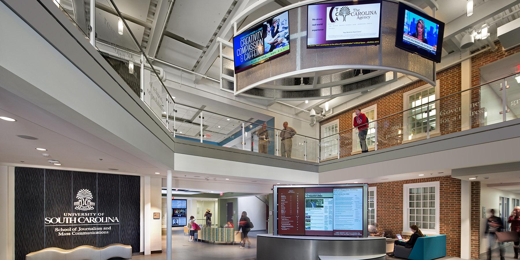 Boudreaux architects and interior designers worked with University of South Carolina on the Journalism Building project.
