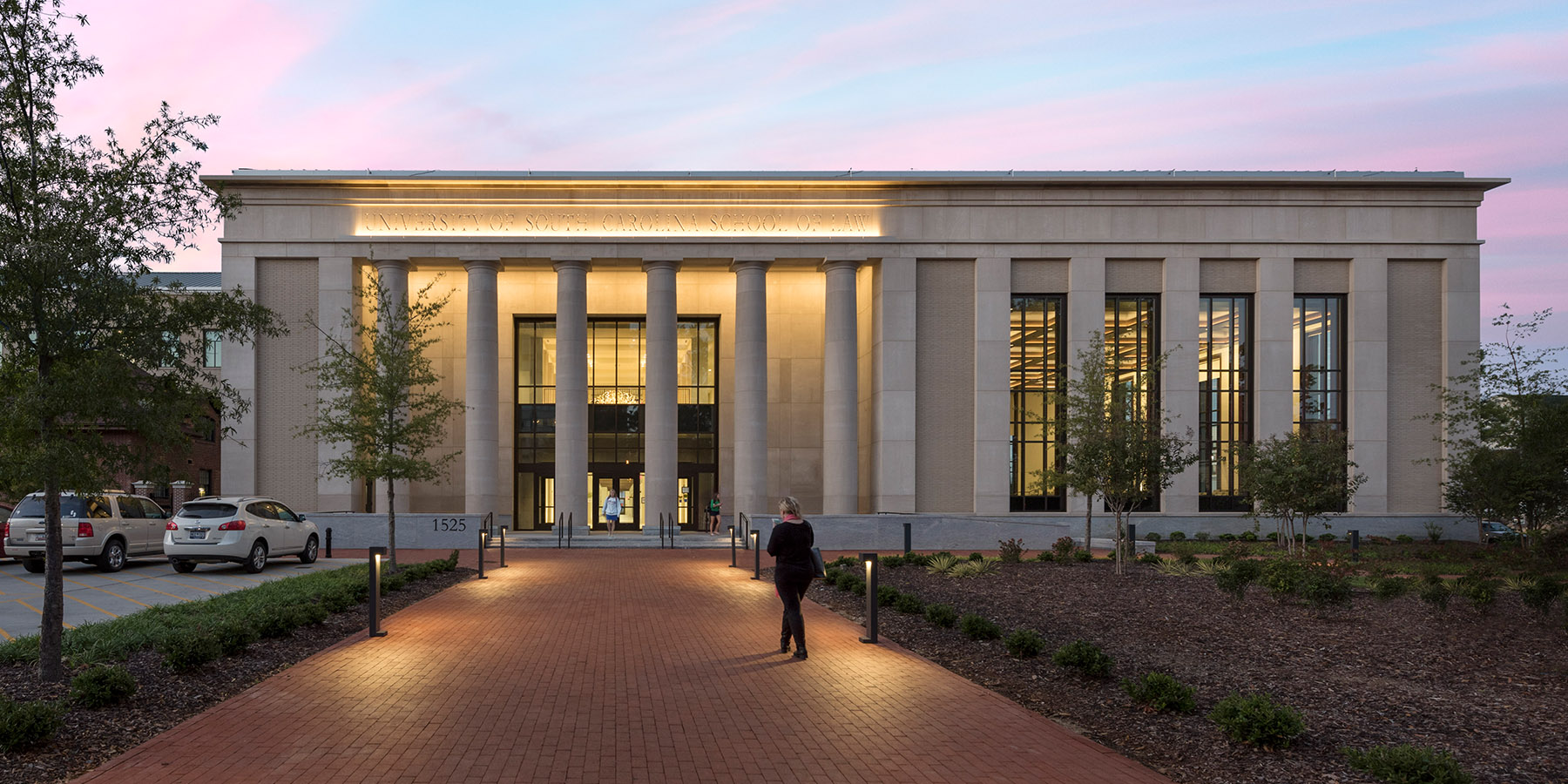 Boudreaux architects and interior designers worked with University of South Carolina on the School of Law project.