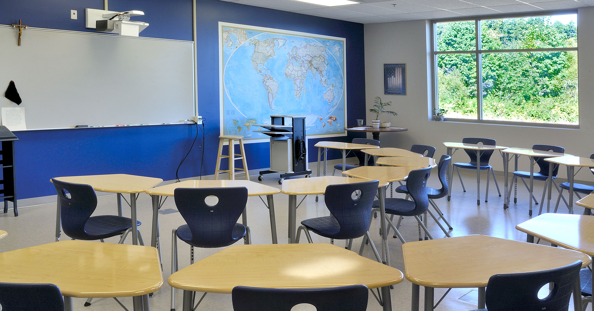 The Charlotte Diocese and Christ the King Catholic High School worked with Boudreaux master planners and architects to design the school's classrooms.