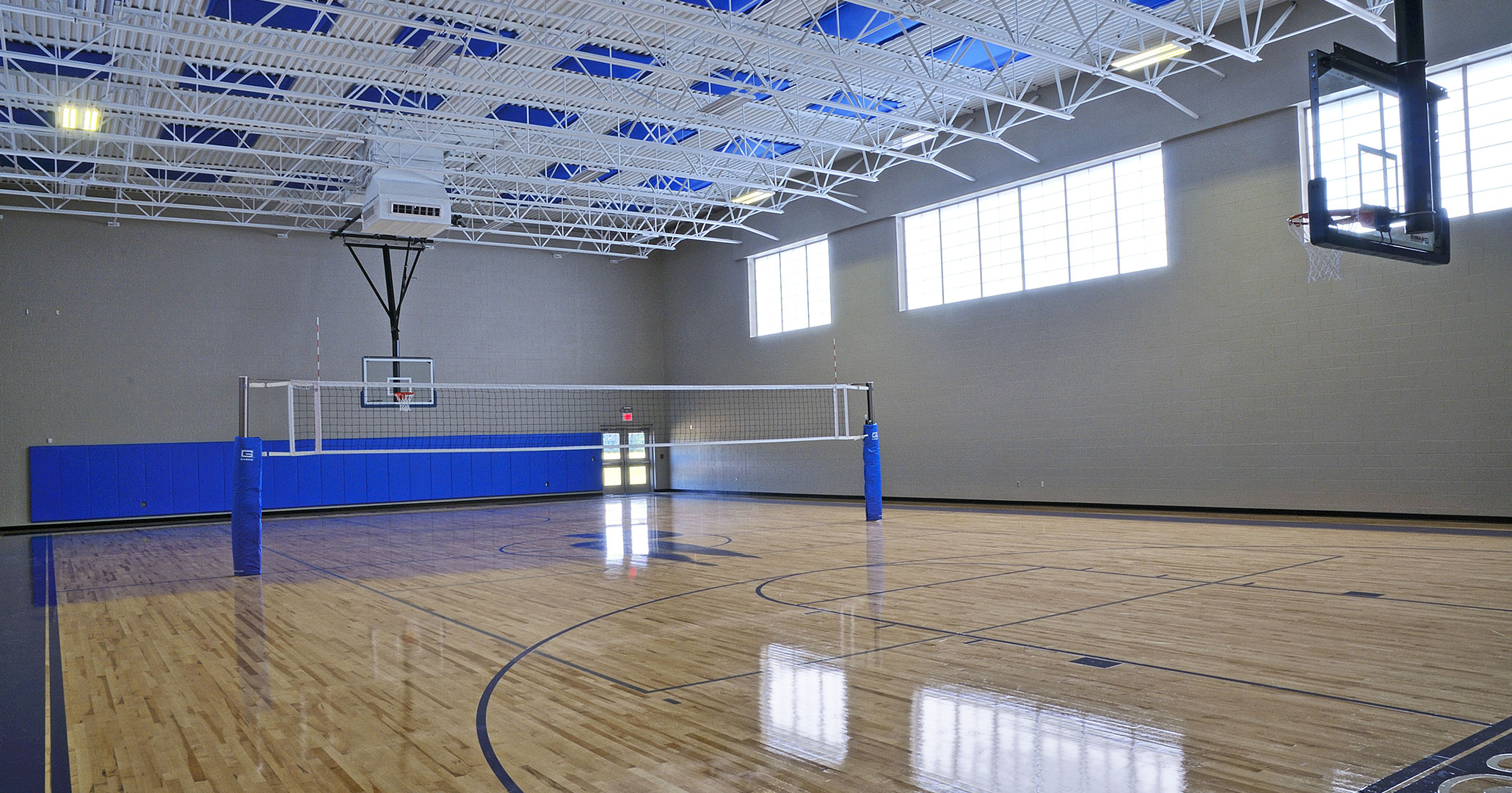 The Charlotte Diocese and Christ the King Catholic High School worked with Boudreaux master planners and architects to design the school's gymnasium.