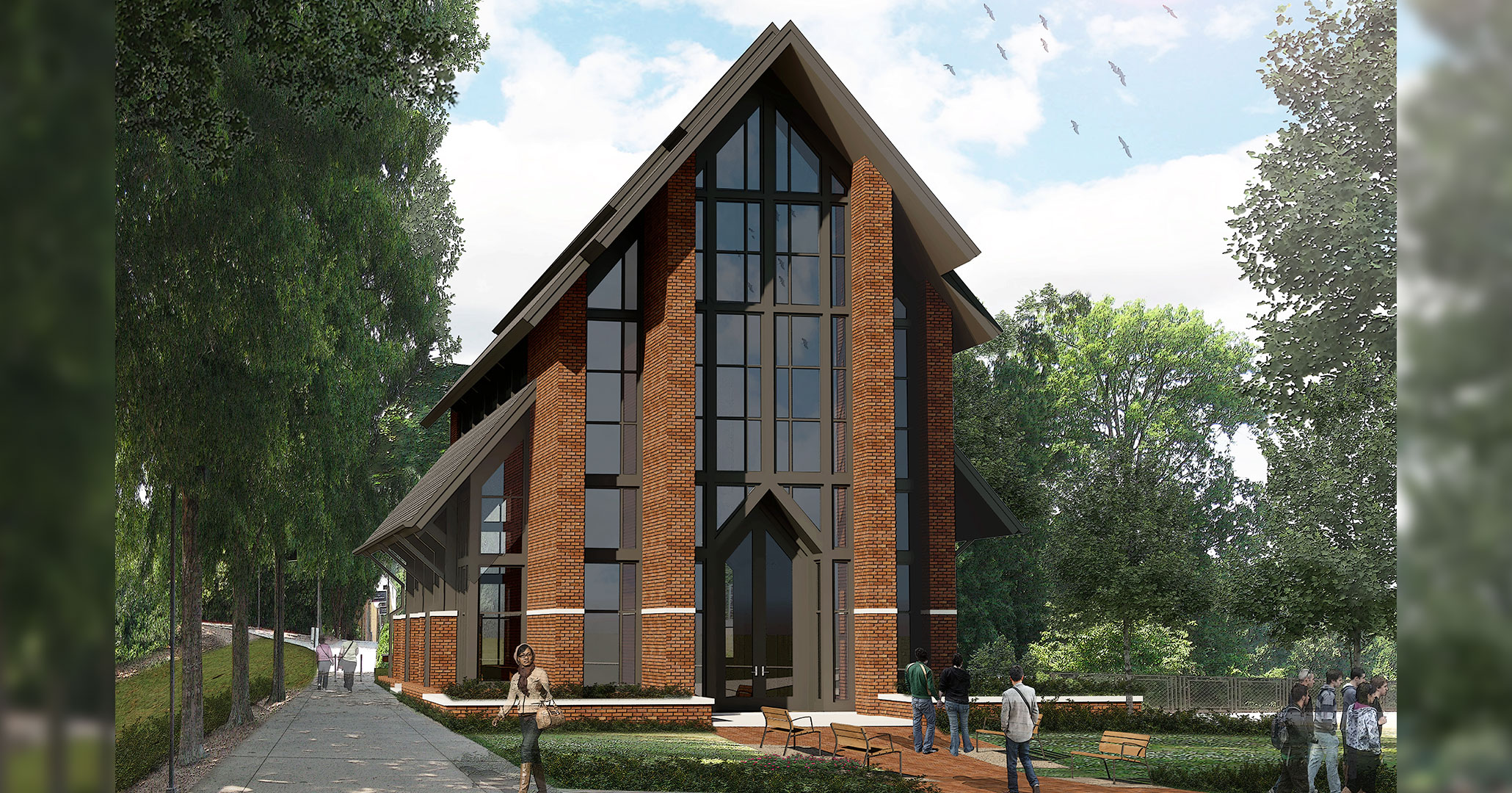 Clemson University is currently working with Boudreaux architects to design and build the Samuel J Cadden Chapel on campus.