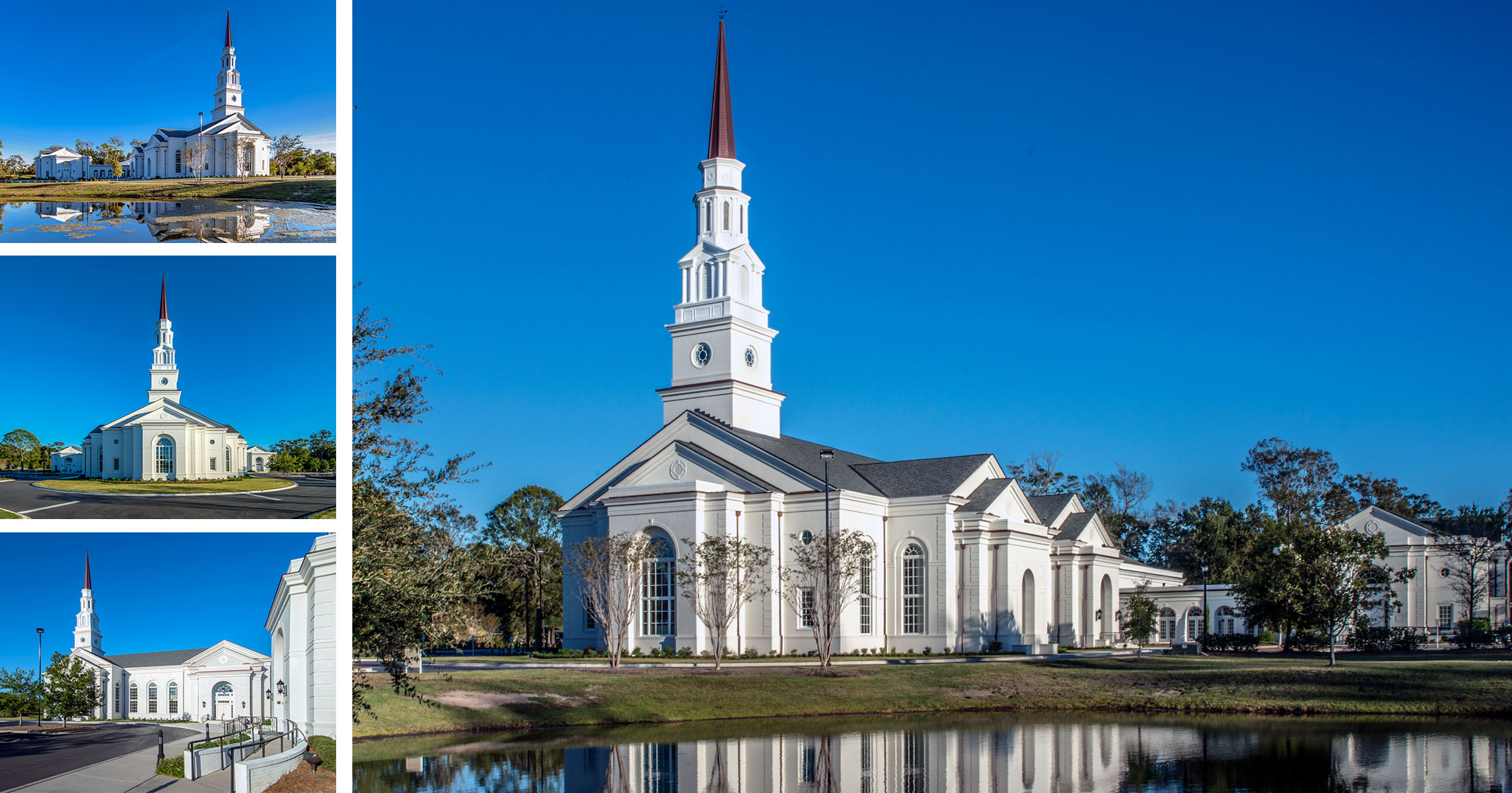 Boudreaux architects designed the First Presbyterian Church in Myrtle Beach, SC.