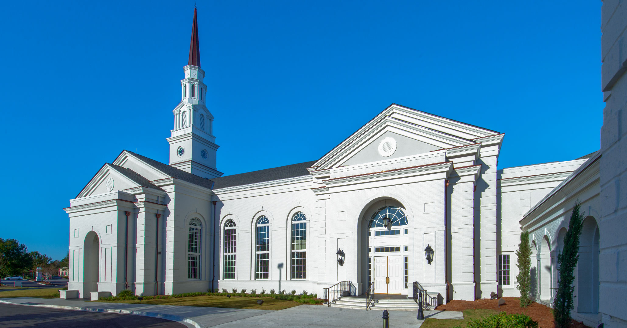 Church project designed by Boudreaux architects at First Presbyterian Church in Myrtle Beach, SC.