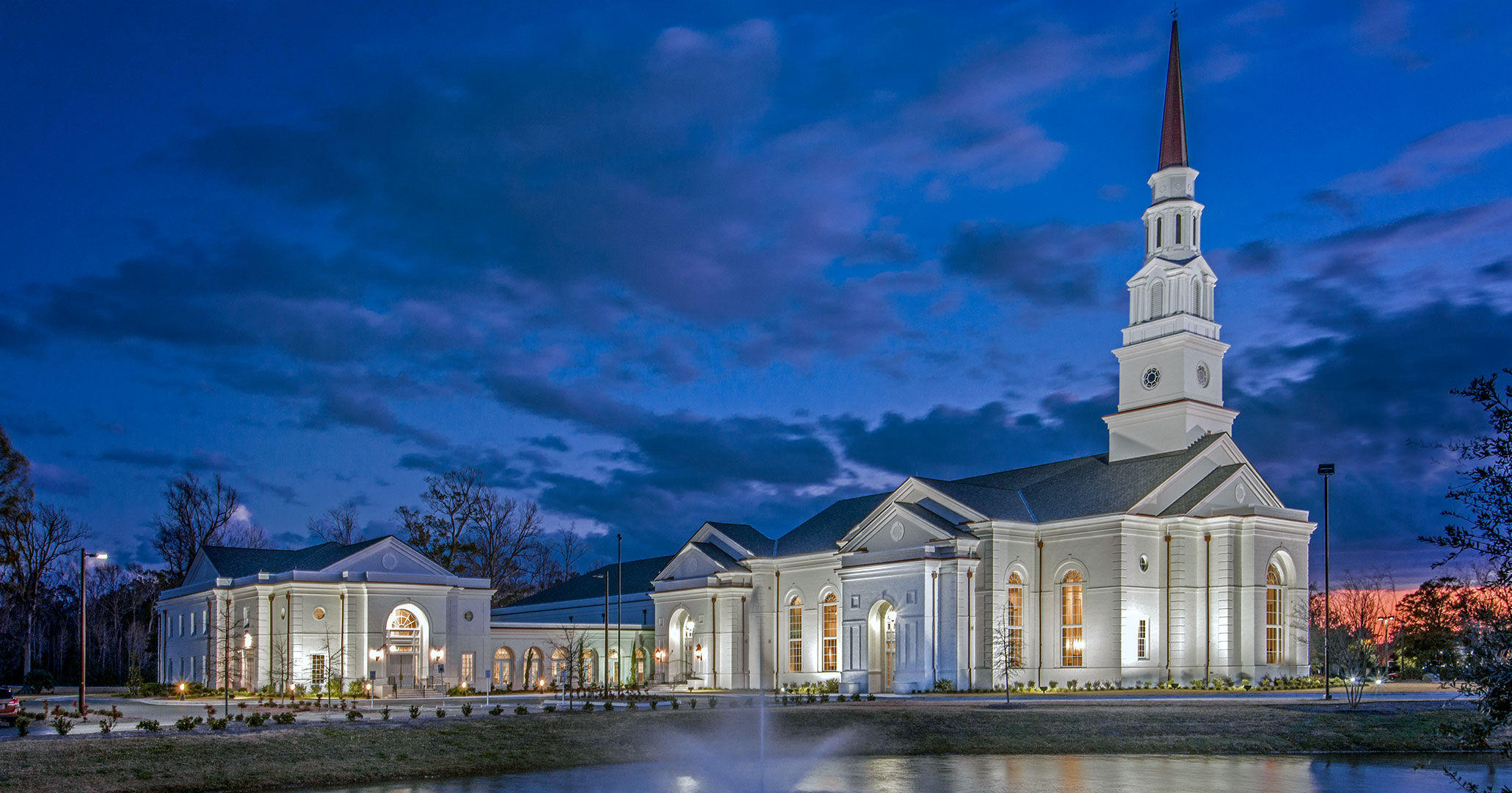 Boudreaux worked with First Presbyterian Church in Myrtle Beach, SC to design church exteriors.