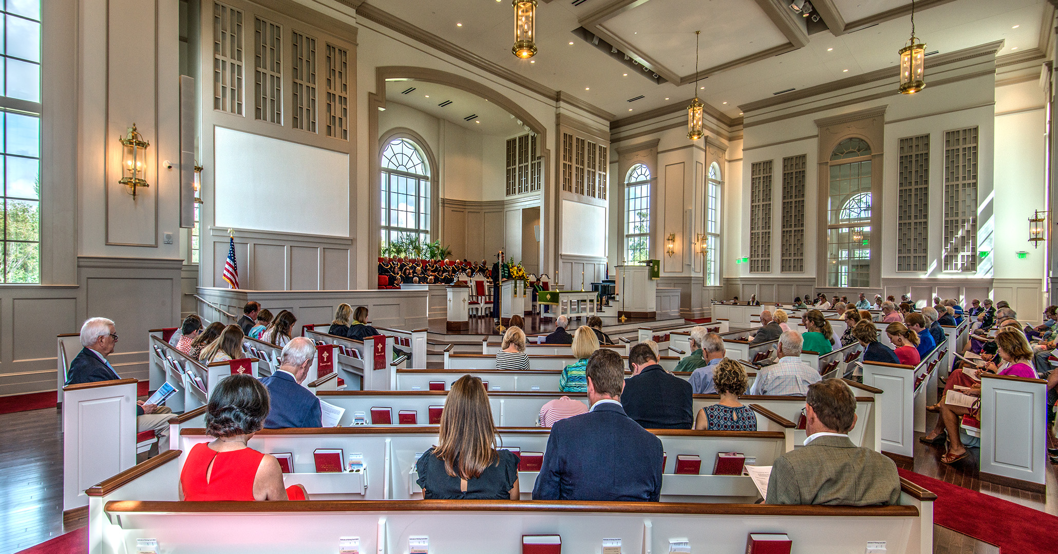 BOUDREAUX architects designed the new sanctuary at the First Presbyterian Church in Myrtle Beach.