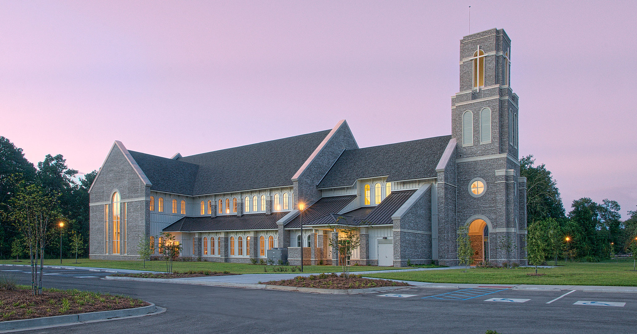 Boudreaux architects worked with St. Anne in Richmond Hill, GA to expand their current church footprint.