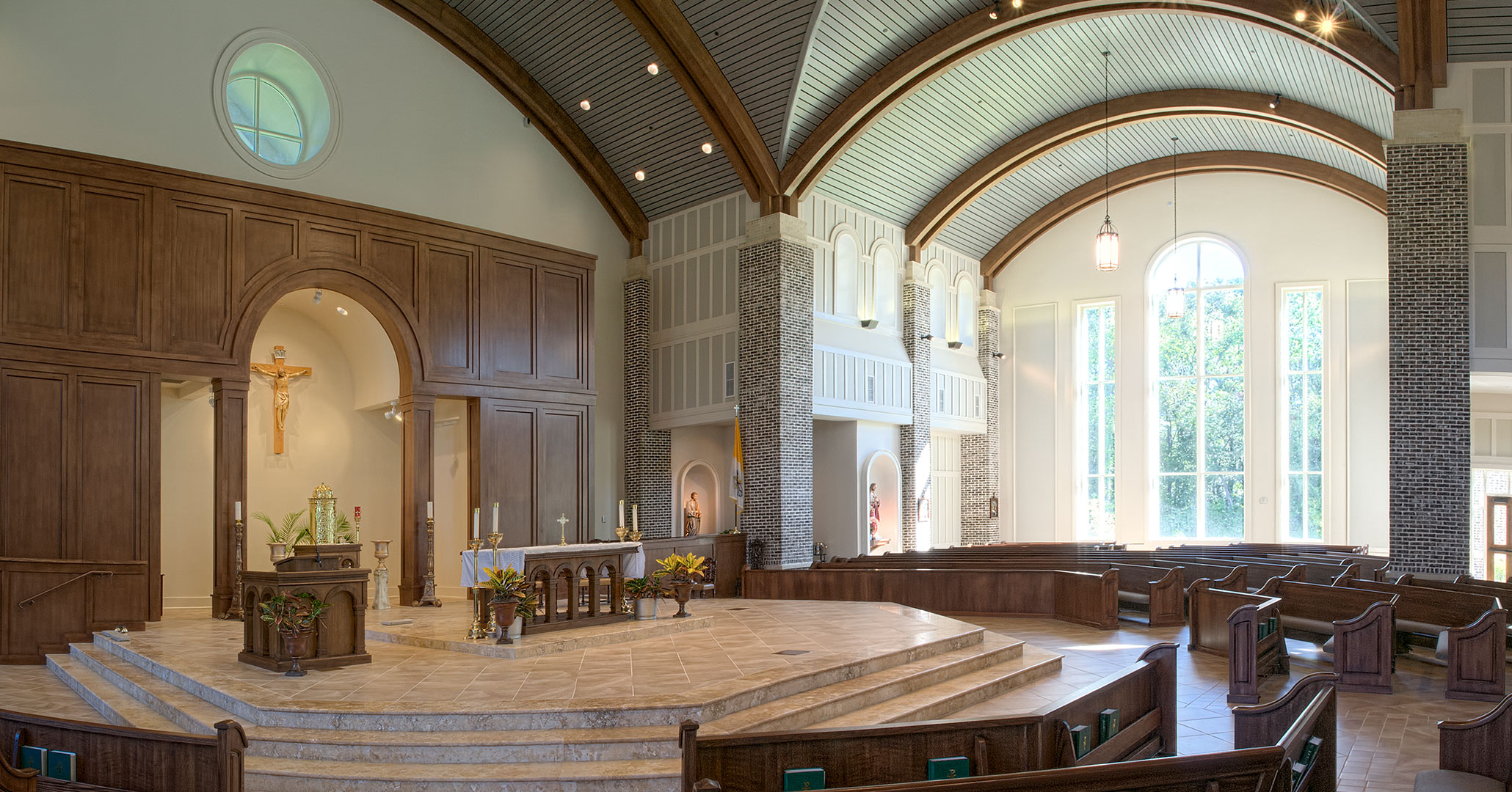 Boudreaux architects designed the interiors for St. Anne in Richmond Hill, GA.