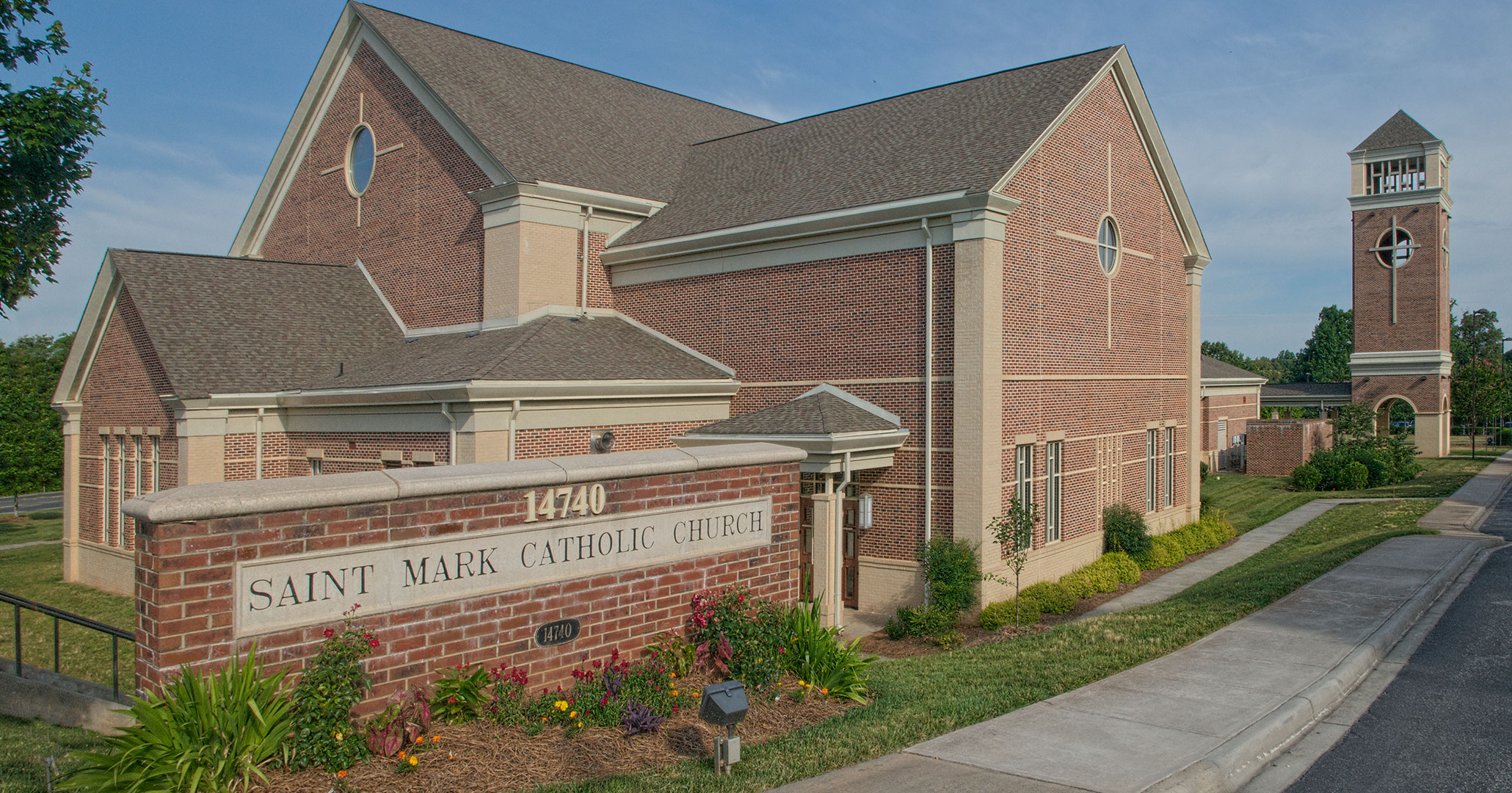 Boudreaux architects worked with St. Mark Catholic Church to design a new church sanctuary.