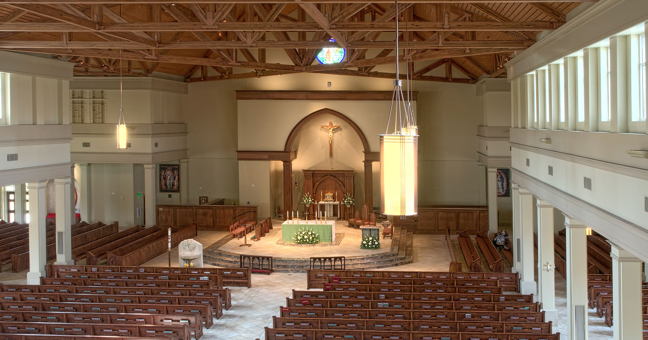 Boudreaux architects worked with St. Mark Catholic Church to create a rich interior.