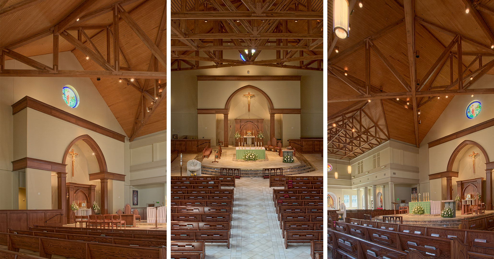 St. Mark's Catholic Church was designed by Boudreaux architects and interior designers.