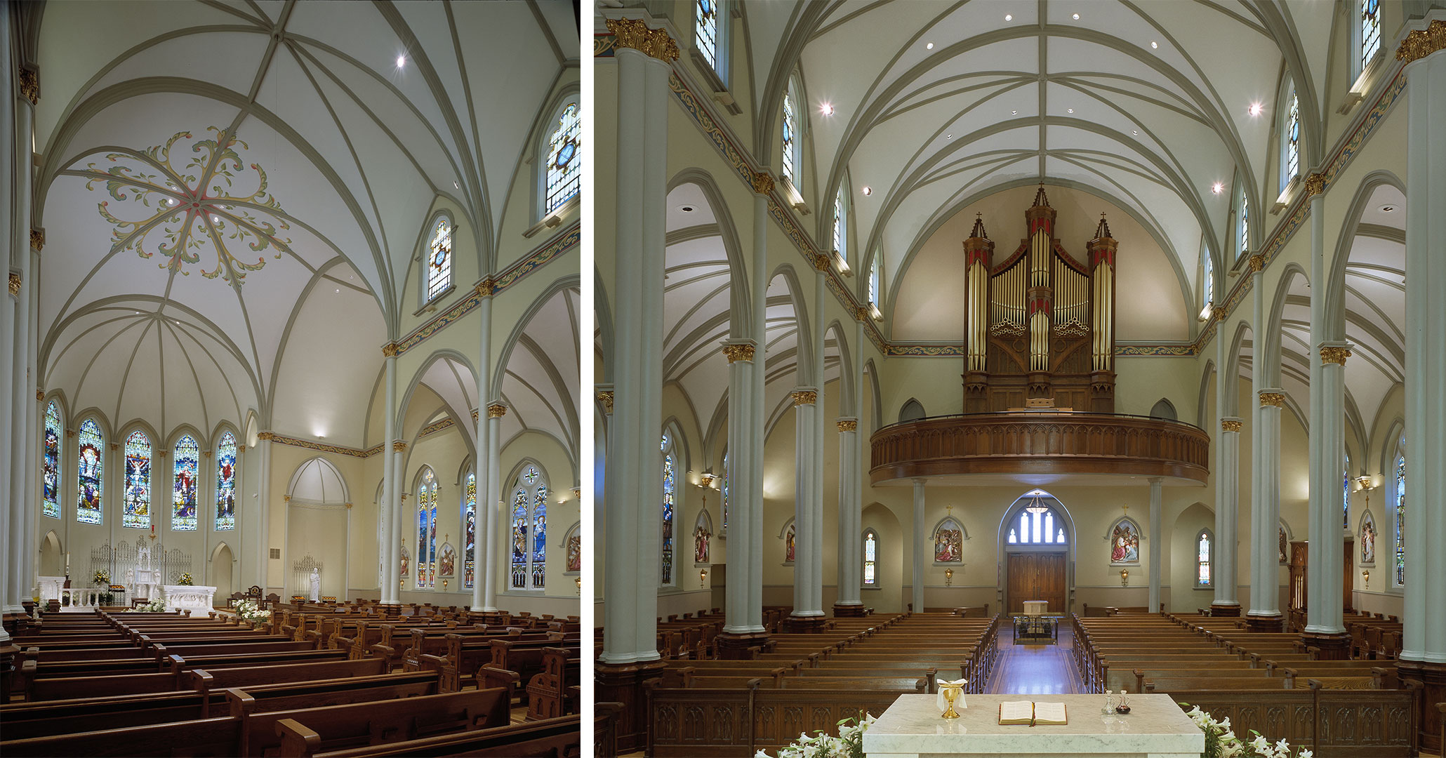 Historic Preservationists at Boudreaux worked with St Peter's Catholic Church to update and modernize the Basilica.