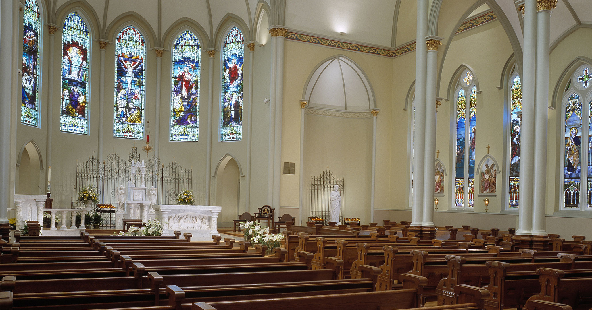 St Peter's Catholic Church in Columbia, SC worked with Catholic Church specialists at Boudreaux to restore the Basilica.