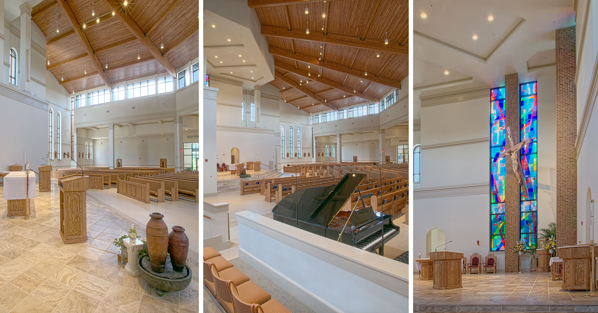 Boudreaux was hired by St. Therese in Mooresville, NC to design the interiors of the sanctuary.