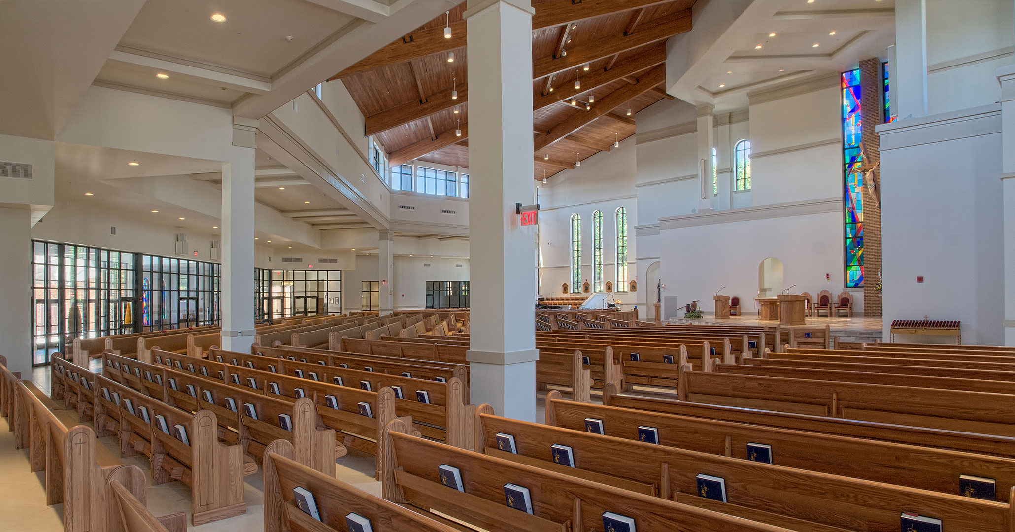 Boudreaux is experienced in designing the interiors of Catholic churches.