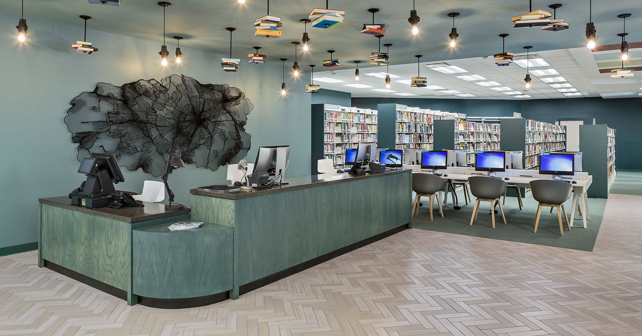 Richland County Library worked with Boudreaux architects to design impactful entryways.