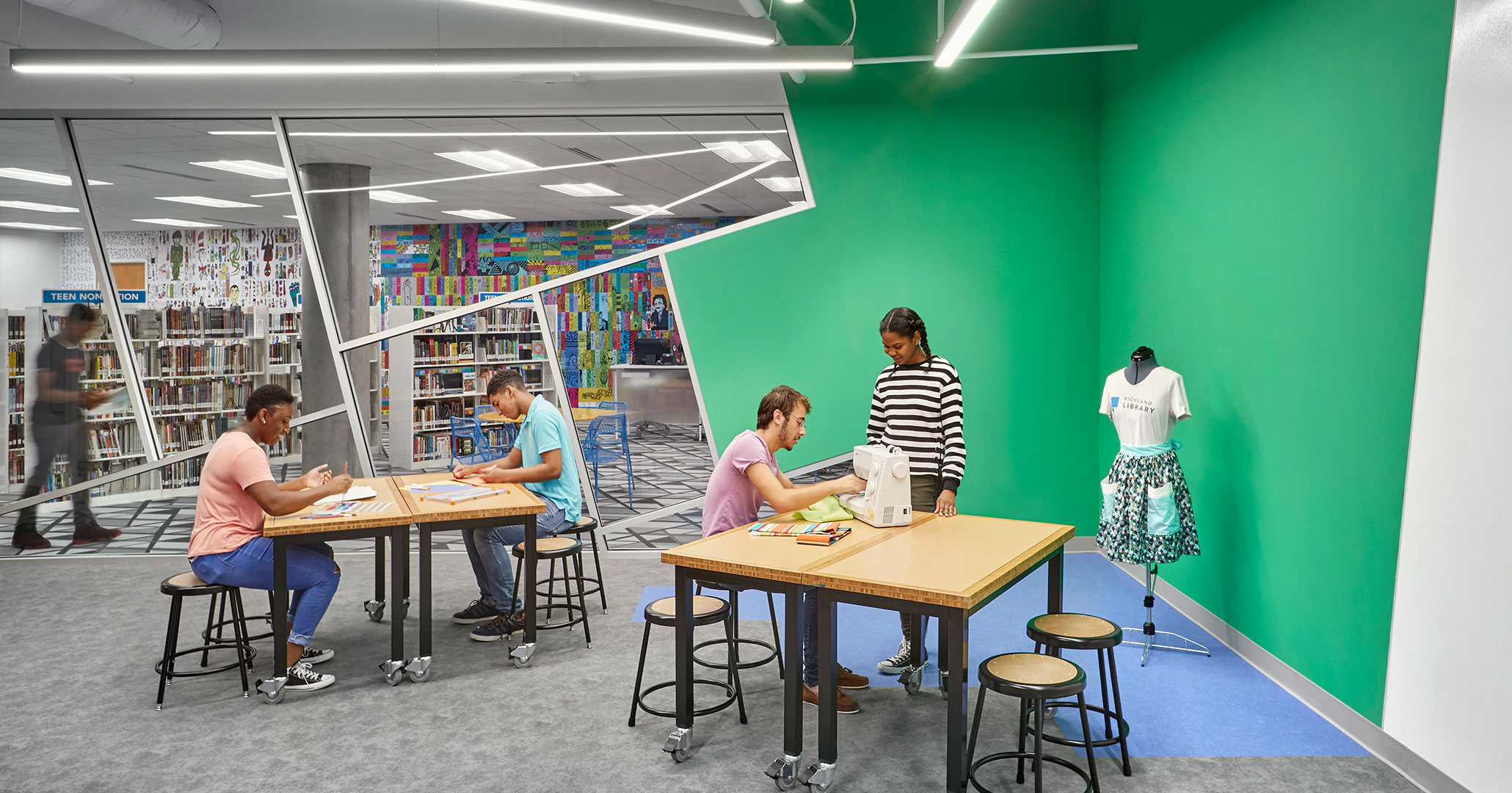 Richland County Library worked with Boudreaux to design DIY spaces for patrons.