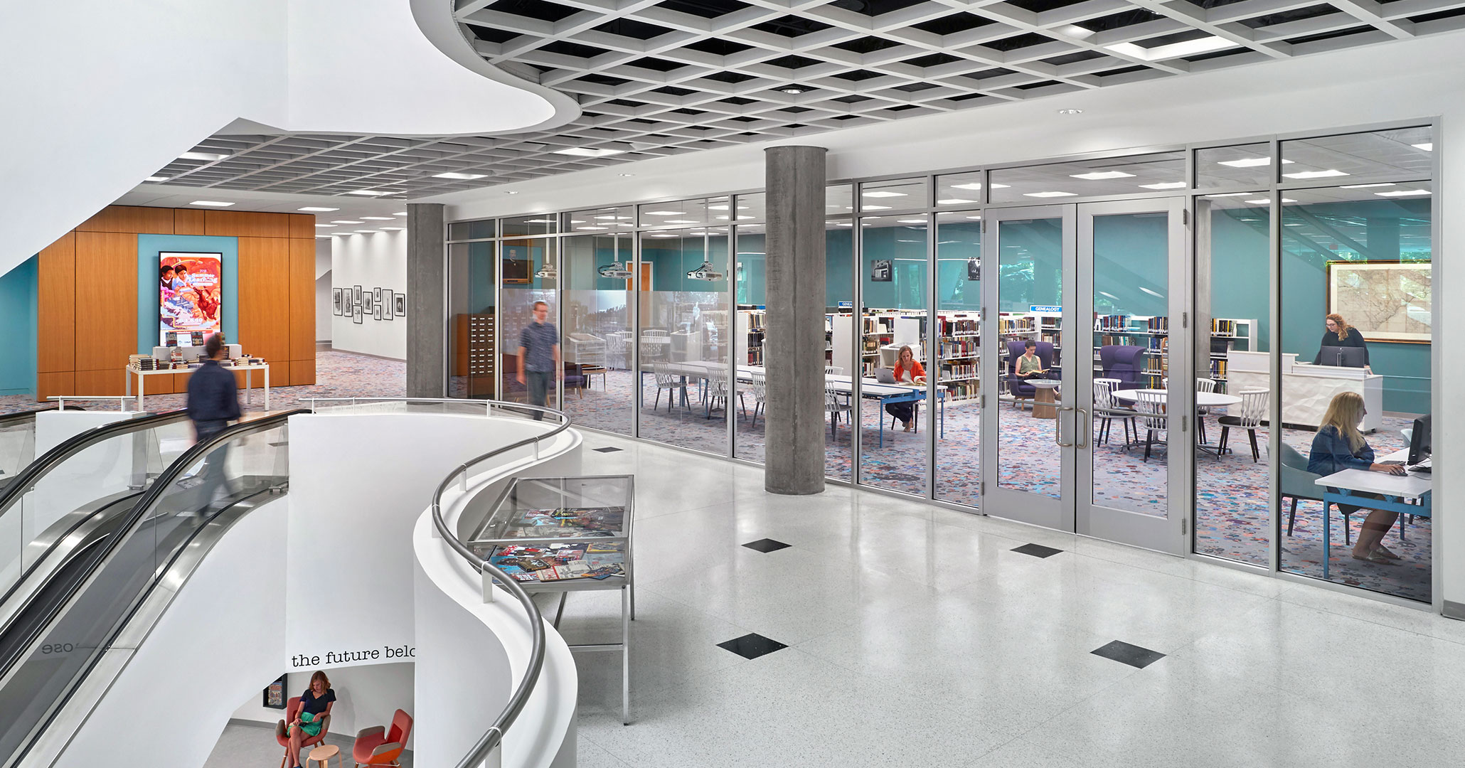 Richland County Library worked with Boudreaux architects to design high end spaces.