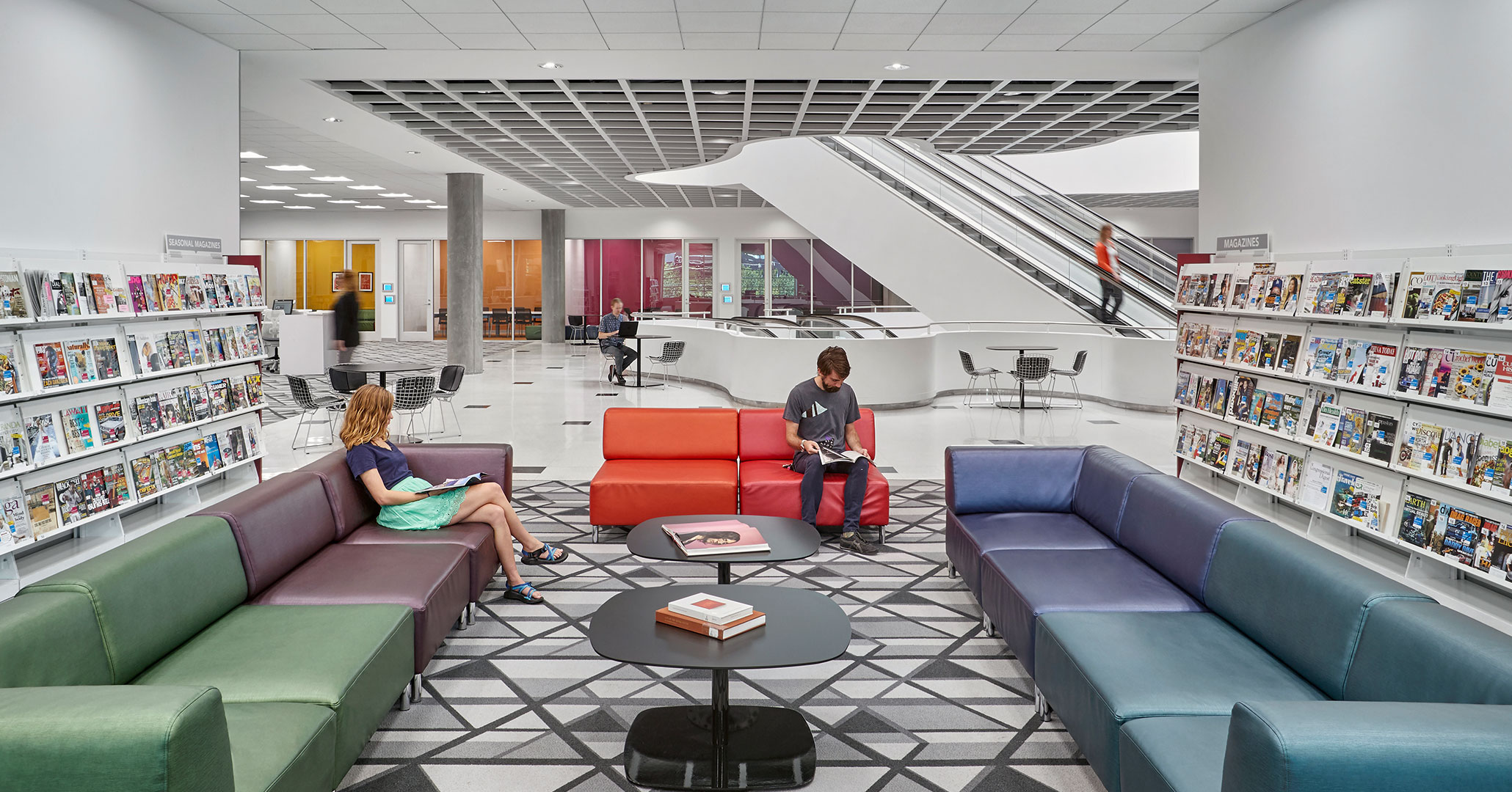 Richland County Library hired Boudreaux architects to completely redesign the interiors of the Main location.