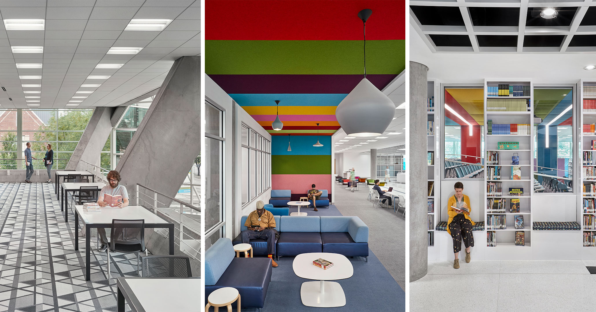 Richland County Library worked with Boudreaux architects to design modern engaging spaces.