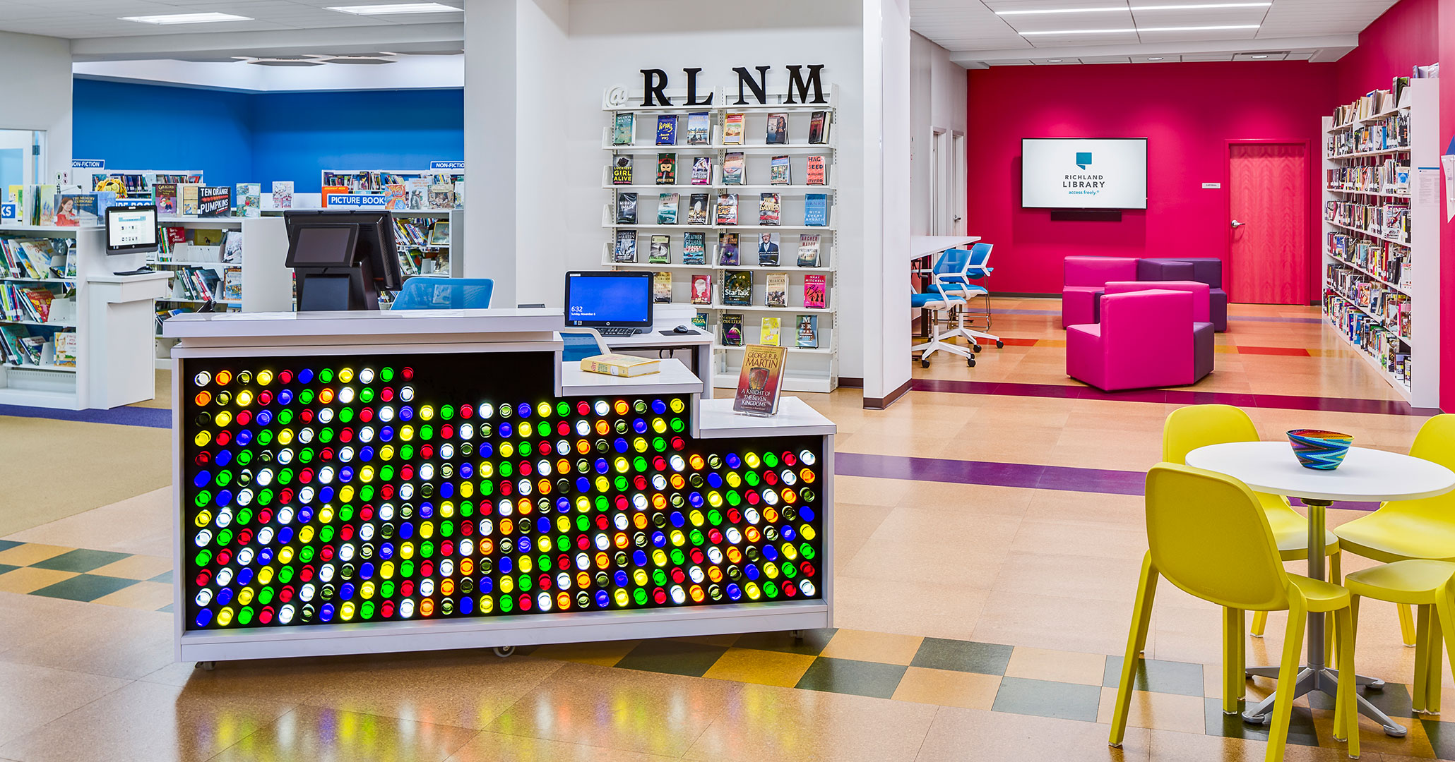 Richland County Library hired Boudreaux to design the interiors at North Main Library location in Columbia, SC.