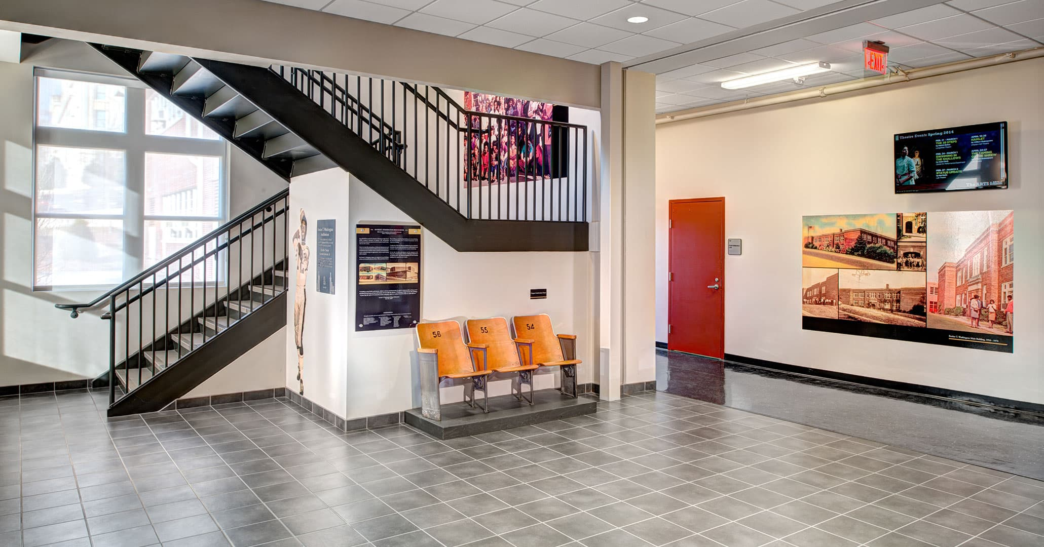 Boudreaux architects worked with the University of South Carolina to renovate and improve Booker T Washington High School.