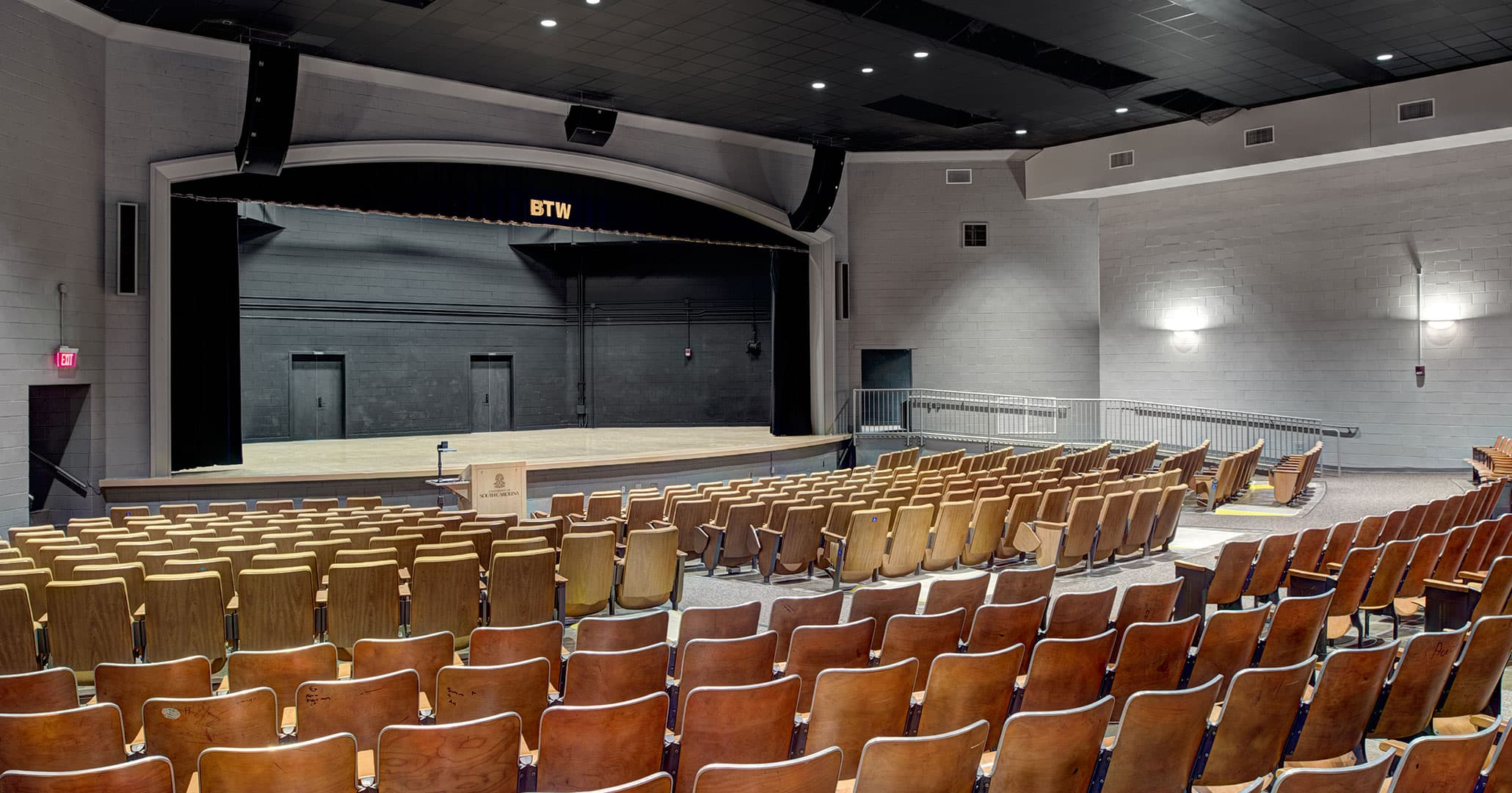 Boudreaux designed the Booker T Washington Auditorium renovation focused on African American history.