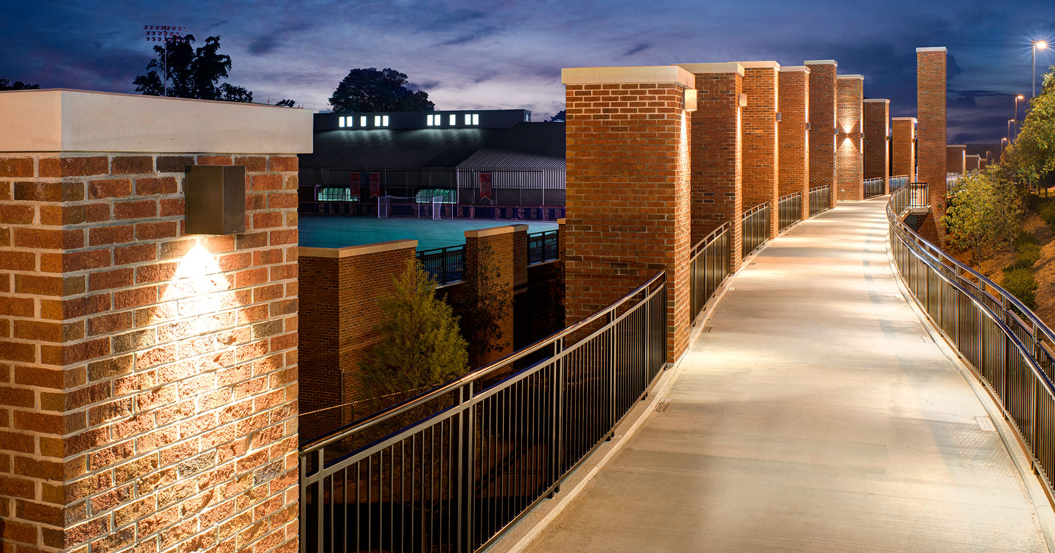 Clemson University hired Boudreaux architects to build a student walkway.