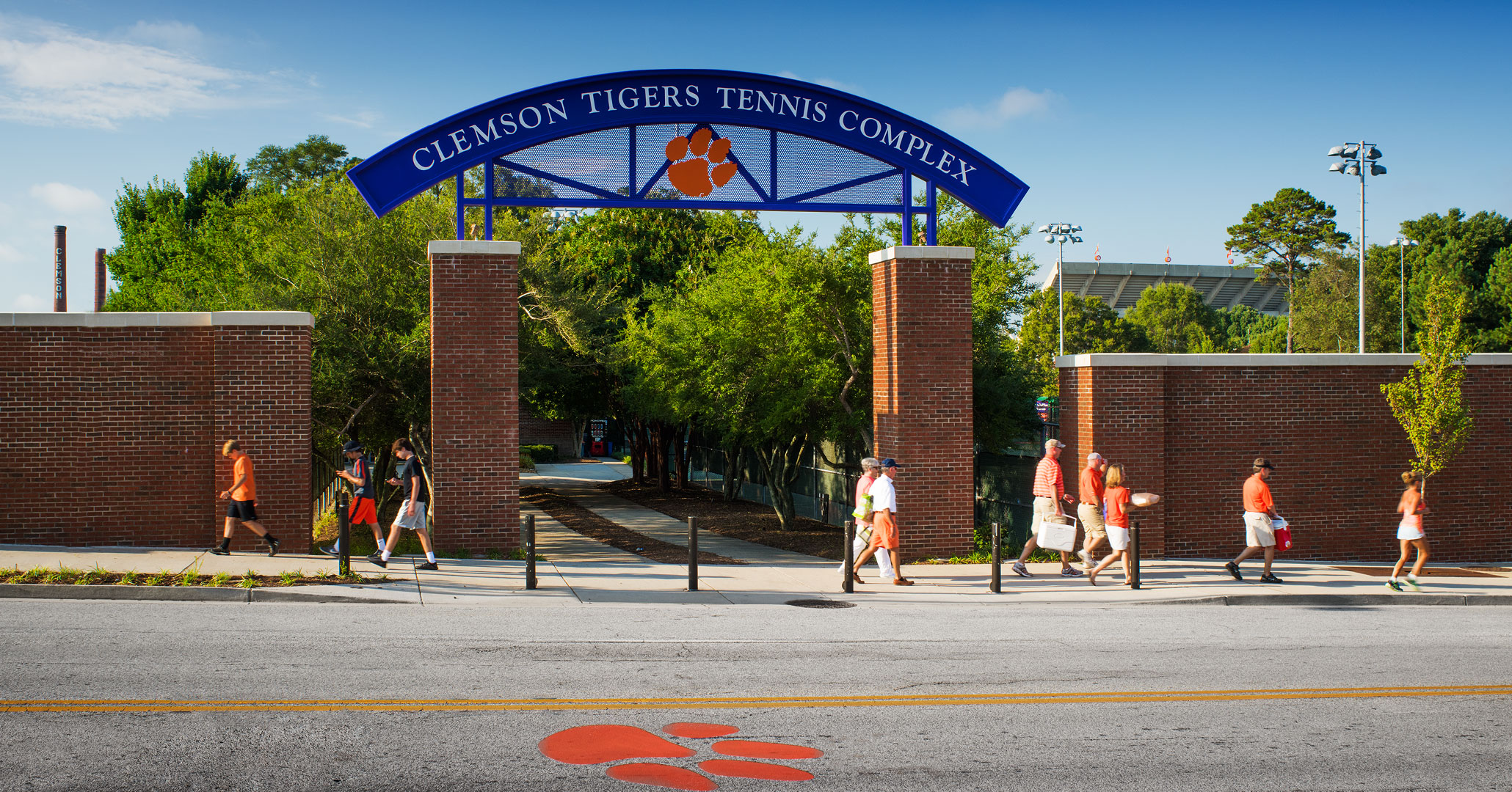 Clemson University worked with Boudreaux architects to build beautiful pedestrian walkway.
