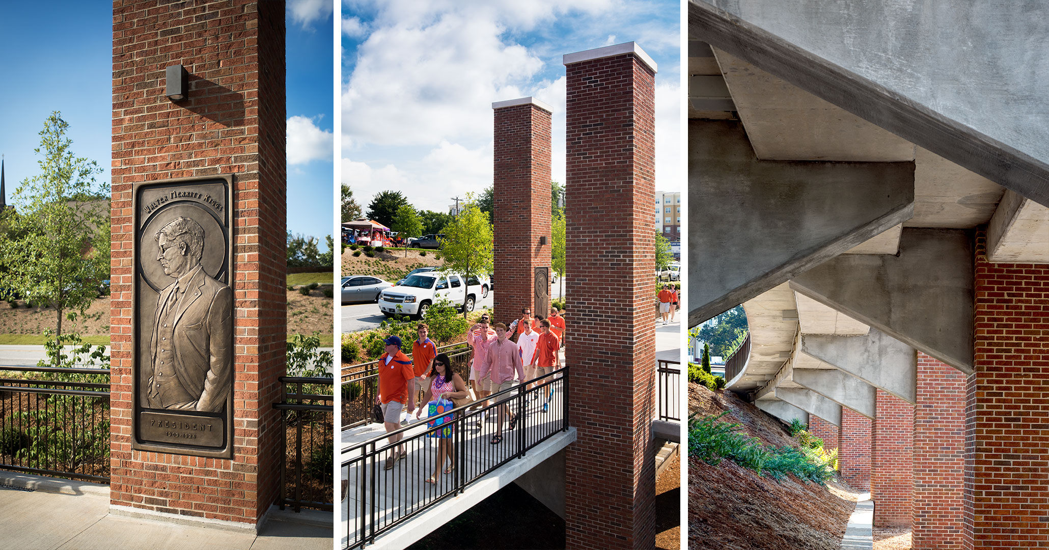 Clemson University hired Boudreaux master planners to improve campus safety with secure walkways to handle student traffic.