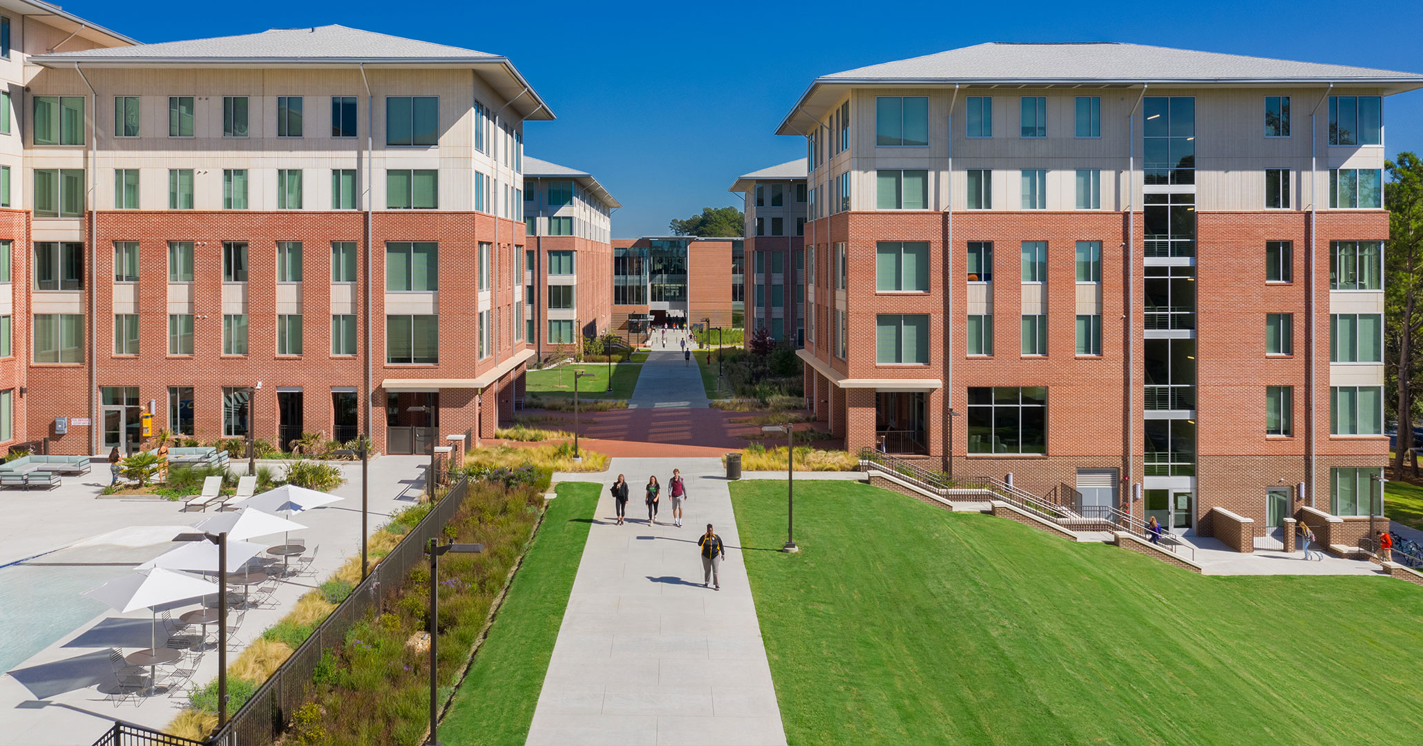 Clemson University worked with Boudreaux architects to design modern technology focused student housing.