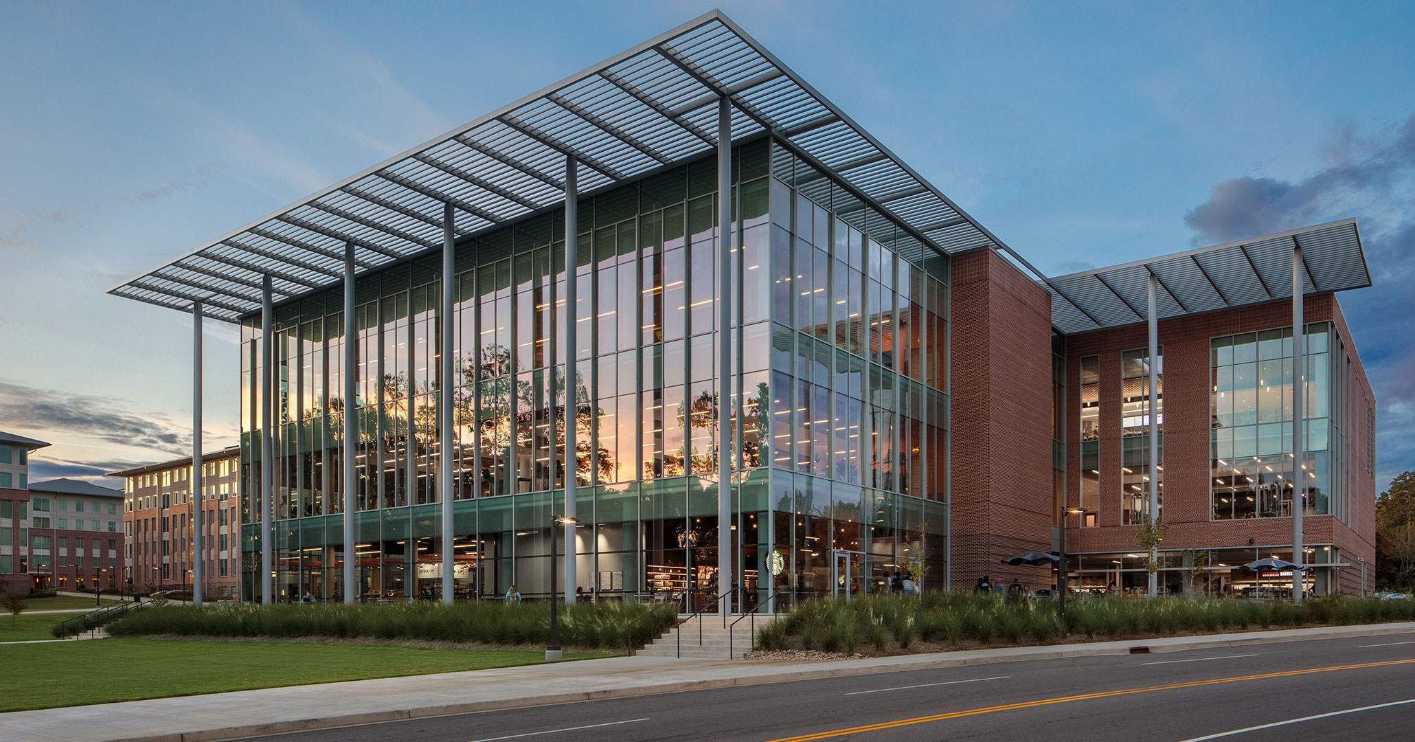 Clemson University's Douthit Hills Student Hub was designed by Boudreaux architects.