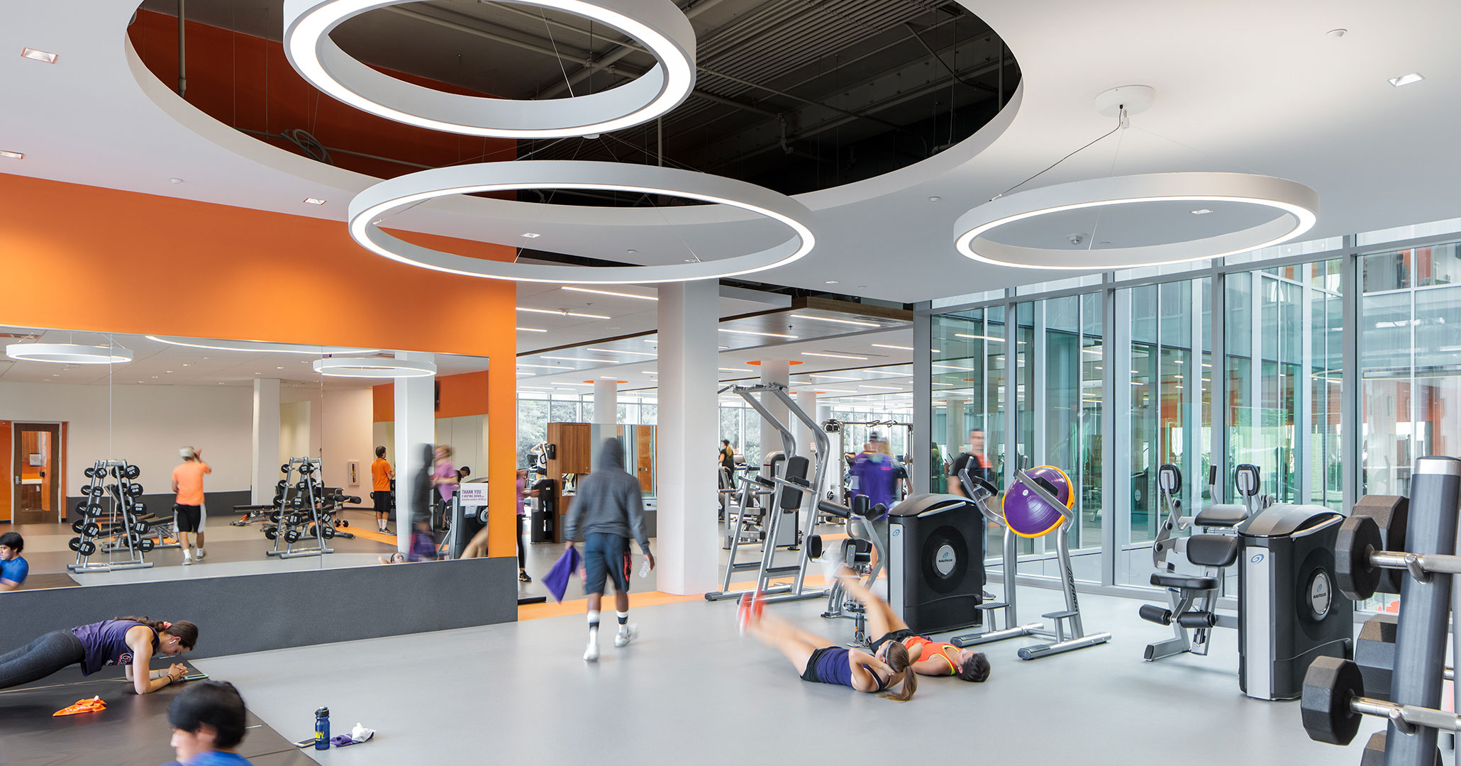 Clemson University worked with Boudreaux architects to design the gym at Douthit Hills Student Hub.