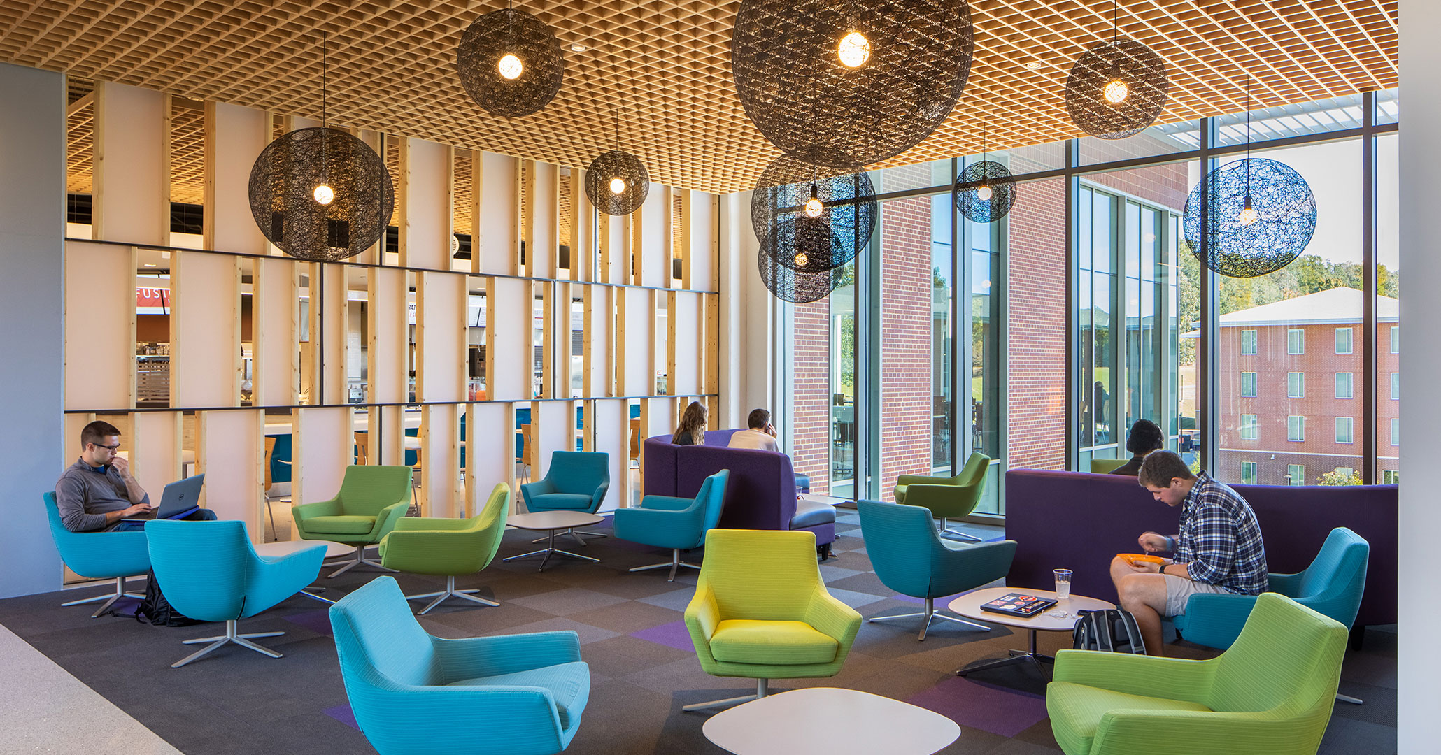 Clemson University worked with Boudreaux architects to provide students with modern living and study areas at Douthit Hills Student Hub.