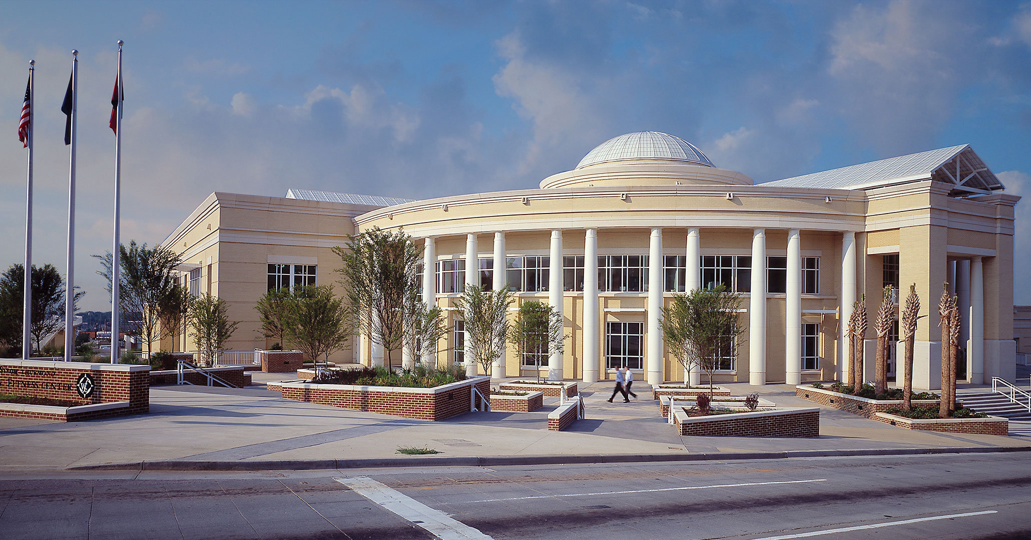University of South Carolina worked with Boudreaux architects to build the Strom Thurmond Wellness Center in downtown Columbia, SC