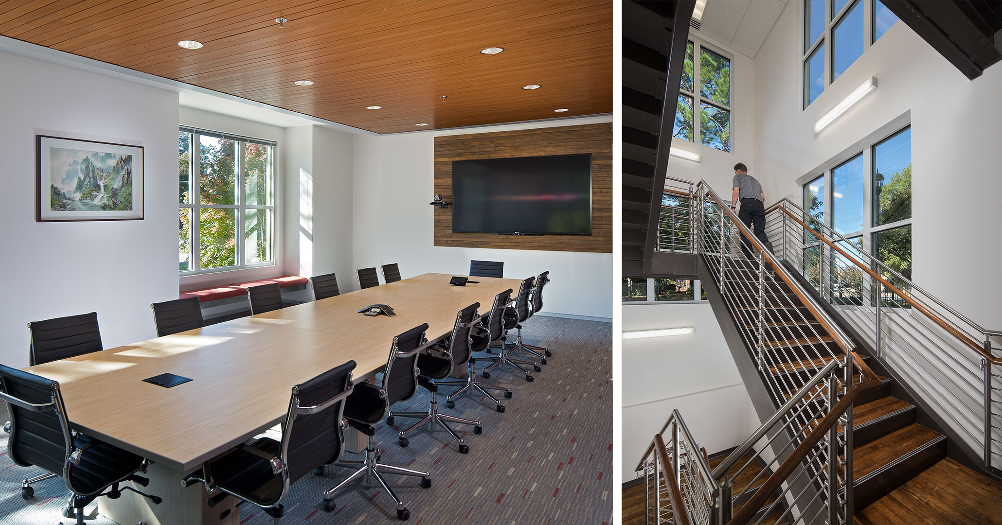 University of South Carolina worked with Boudreaux architects to design classrooms in the historic Hamilton College building.