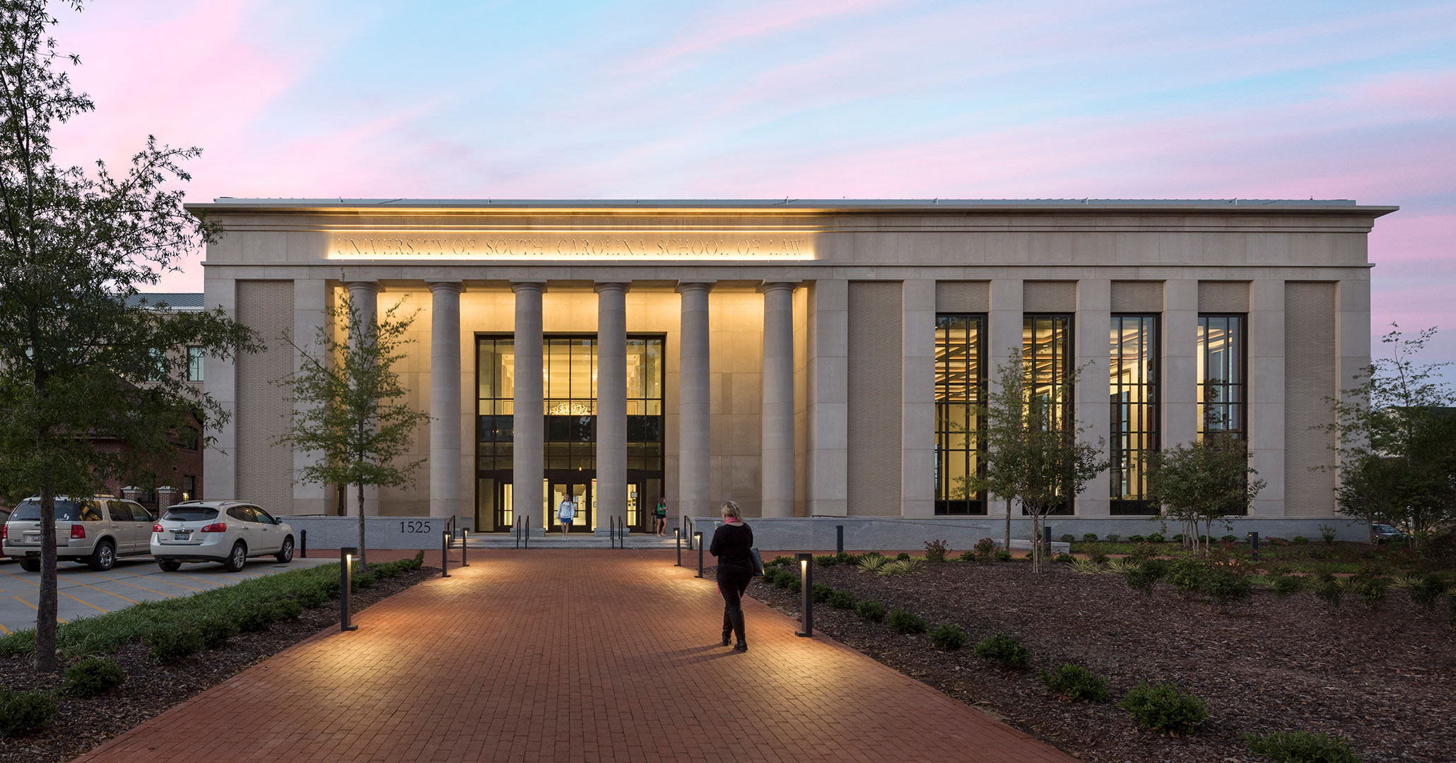 The University of South Carolina worked with Boudreaux architects to design the new Law School.