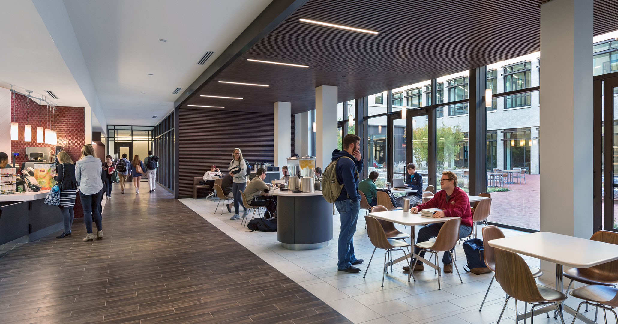 The University of South Carolina worked with Boudreaux architects to design the café space at the new Law School.