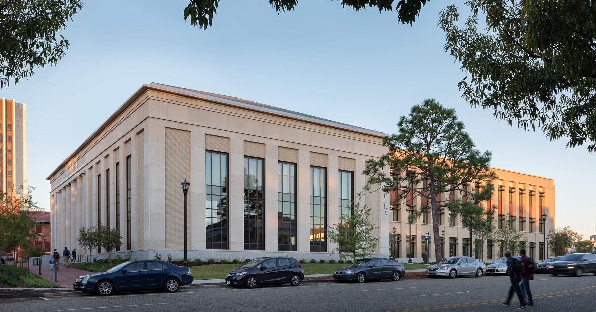 The University of South Carolina worked with Boudreaux architects to design the new Law School on Gervais and Bull Street.