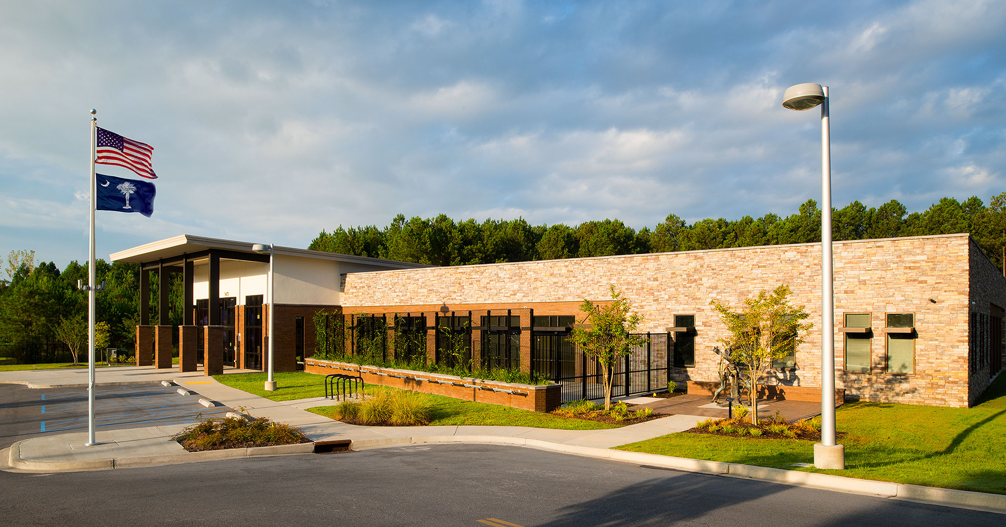 Boudreaux architects worked with the Richland County Recreation Commission to update the exterior and design the interiors at the RCRC Headquarters.