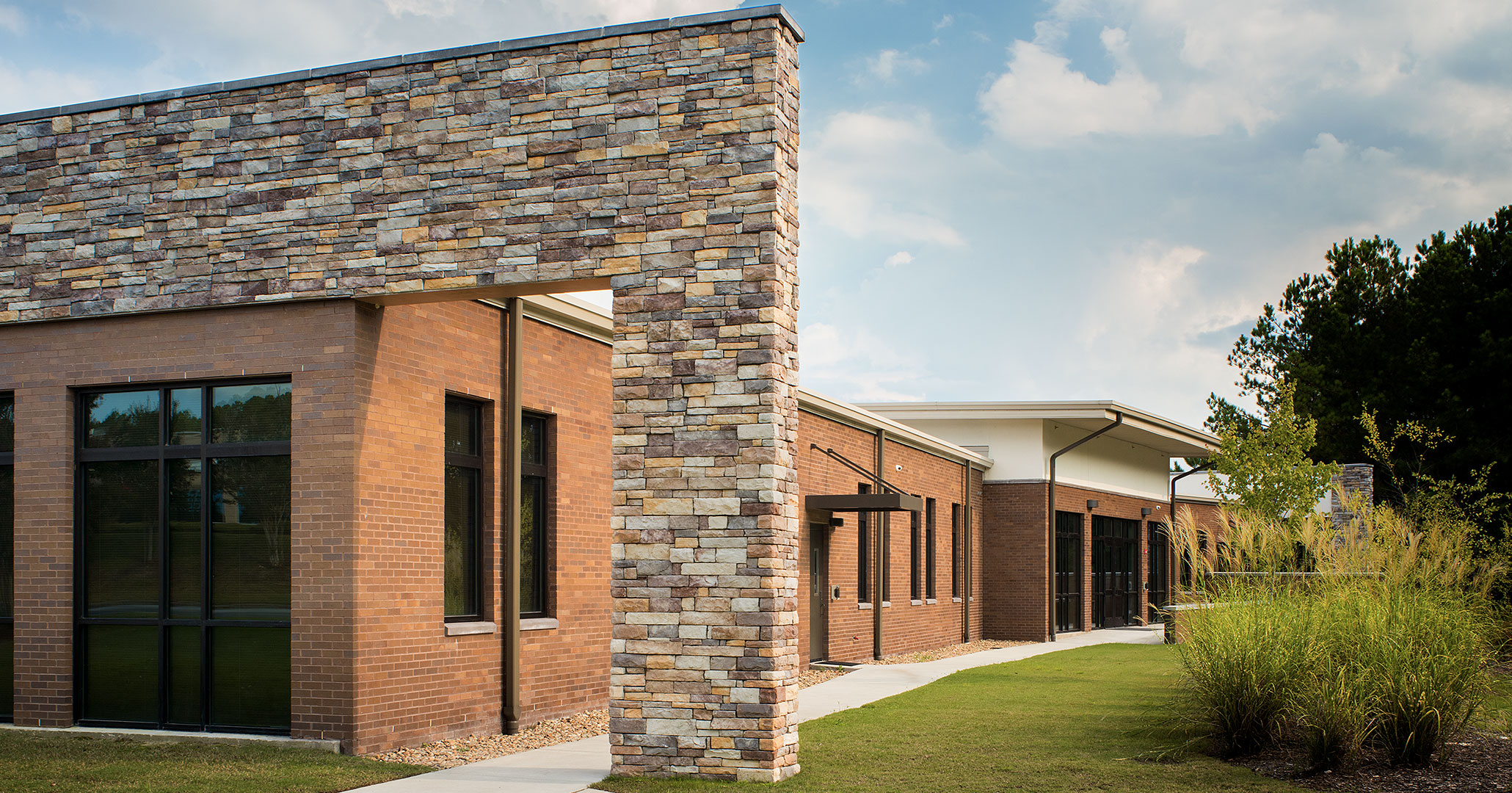 Boudreaux architects worked with the Richland County Recreation Commission to modernize the exterior of RCRC Headquarters.