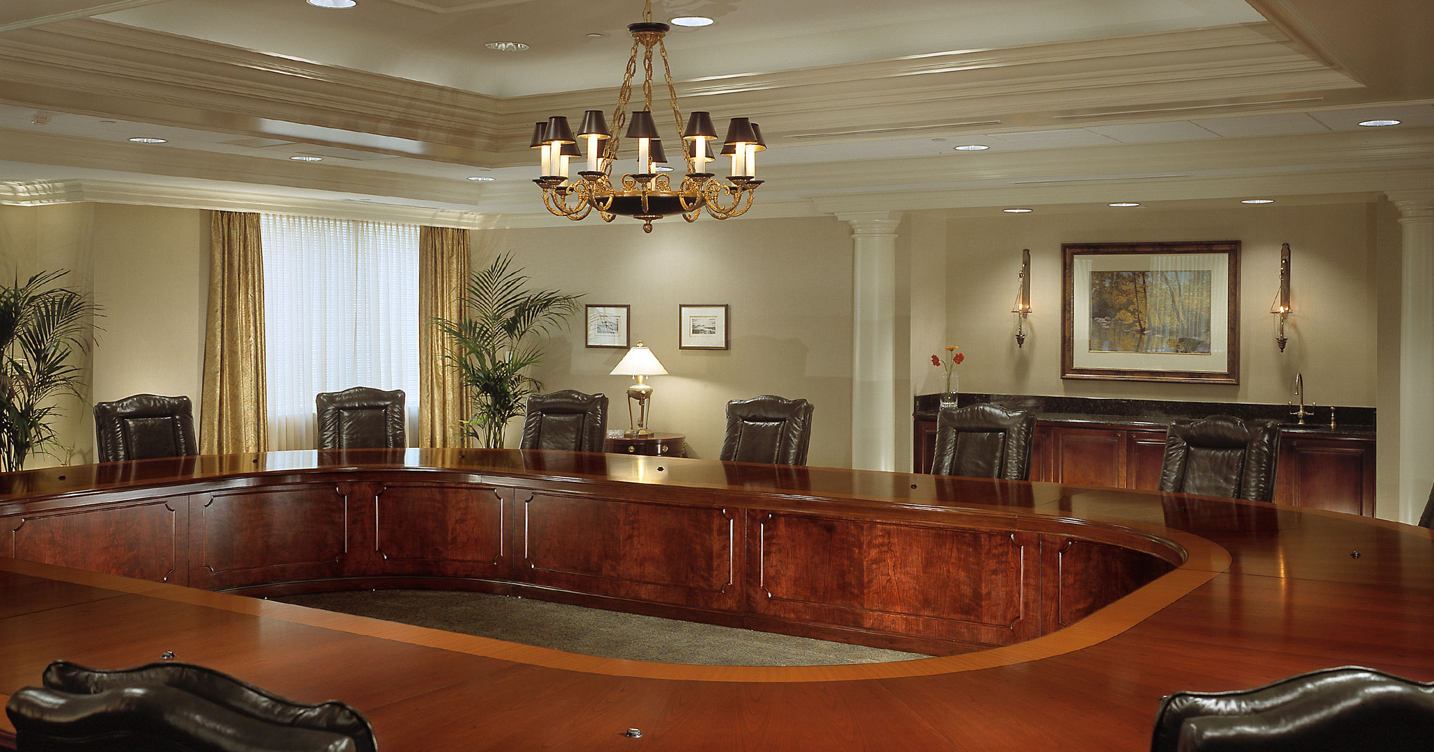 Boudreaux architects provided interior design services for South State Bank for their traditional office spaces.